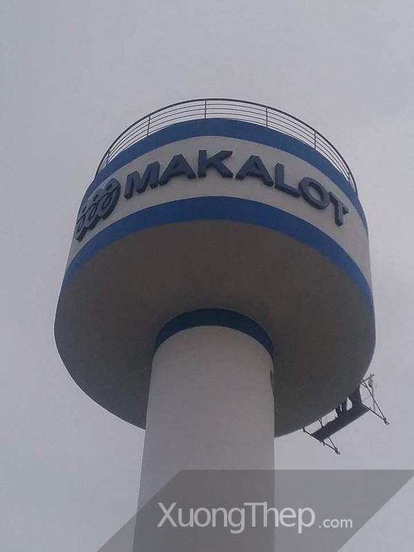 thi công lắp đặt chữ trang trí cho biển hiệu nhà máy makalot.