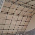 thi công khung xương mái gỗ bằng thép hộp.